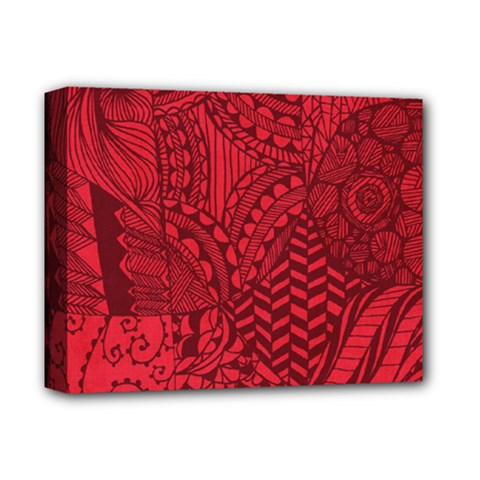 Deep Red Background Abstract Deluxe Canvas 14  x 11