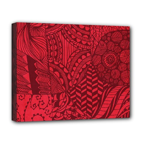 Deep Red Background Abstract Deluxe Canvas 20  X 16