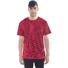 Deep Red Background Abstract Men s Sport Mesh Tee