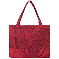 Deep Red Background Abstract Mini Tote Bag