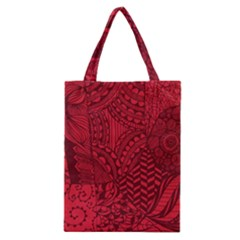 Deep Red Background Abstract Classic Tote Bag