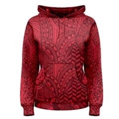 Deep Red Background Abstract Women s Pullover Hoodie