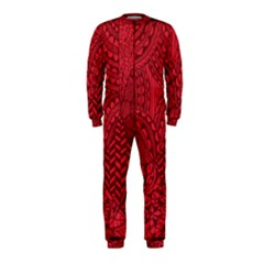 Deep Red Background Abstract OnePiece Jumpsuit (Kids)