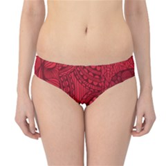 Deep Red Background Abstract Hipster Bikini Bottoms