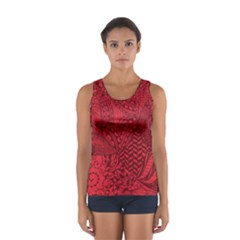 Deep Red Background Abstract Women s Sport Tank Top