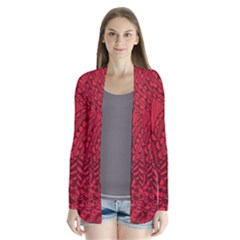 Deep Red Background Abstract Cardigans