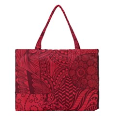 Deep Red Background Abstract Medium Tote Bag