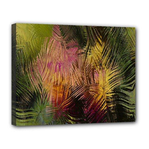 Abstract Brush Strokes In A Floral Pattern  Canvas 14  x 11