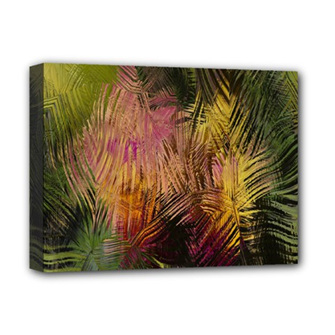Abstract Brush Strokes In A Floral Pattern  Deluxe Canvas 16  x 12