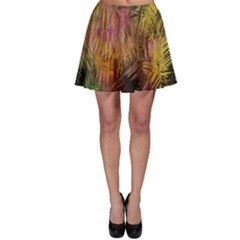 Abstract Brush Strokes In A Floral Pattern  Skater Skirt
