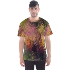 Abstract Brush Strokes In A Floral Pattern  Men s Sport Mesh Tee