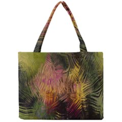 Abstract Brush Strokes In A Floral Pattern  Mini Tote Bag