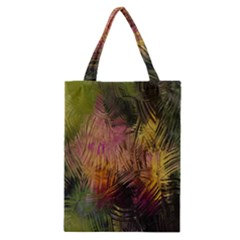 Abstract Brush Strokes In A Floral Pattern  Classic Tote Bag