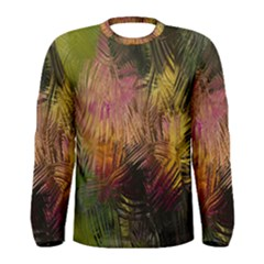 Abstract Brush Strokes In A Floral Pattern  Men s Long Sleeve Tee