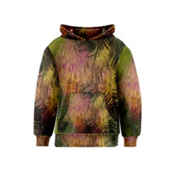 Abstract Brush Strokes In A Floral Pattern  Kids  Pullover Hoodie