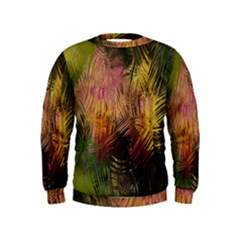 Abstract Brush Strokes In A Floral Pattern  Kids  Sweatshirt