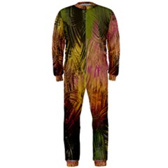 Abstract Brush Strokes In A Floral Pattern  OnePiece Jumpsuit (Men)