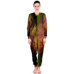 Abstract Brush Strokes In A Floral Pattern  OnePiece Jumpsuit (Ladies)