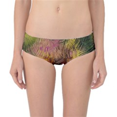 Abstract Brush Strokes In A Floral Pattern  Classic Bikini Bottoms