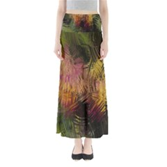 Abstract Brush Strokes In A Floral Pattern  Maxi Skirts
