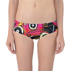 Abstract Clutter Pattern Baffled Field Classic Bikini Bottoms