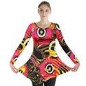 Abstract Clutter Pattern Baffled Field Long Sleeve Tunic  View1