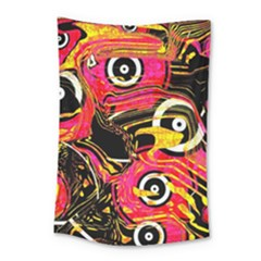 Abstract Clutter Pattern Baffled Field Small Tapestry