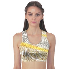 Abstract Composition Pattern Sports Bra