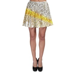 Abstract Composition Pattern Skater Skirt