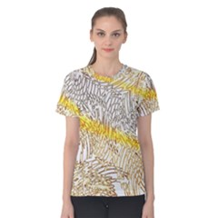Abstract Composition Pattern Women s Cotton Tee