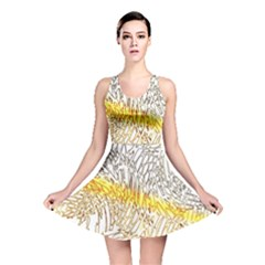 Abstract Composition Pattern Reversible Skater Dress