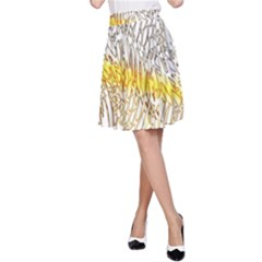 Abstract Composition Pattern A-Line Skirt