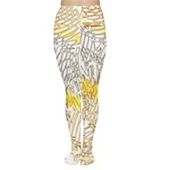 Abstract Composition Pattern Women s Tights