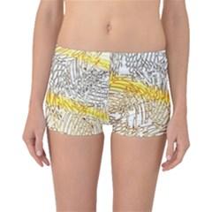 Abstract Composition Pattern Boyleg Bikini Bottoms