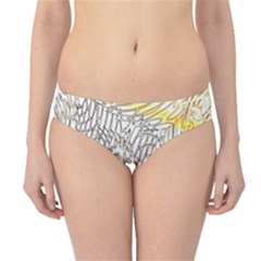 Abstract Composition Pattern Hipster Bikini Bottoms