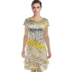Abstract Composition Pattern Cap Sleeve Nightdress