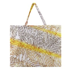 Abstract Composition Pattern Zipper Large Tote Bag