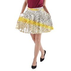 Abstract Composition Pattern A-Line Pocket Skirt