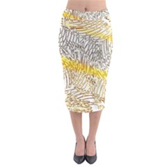 Abstract Composition Pattern Midi Pencil Skirt