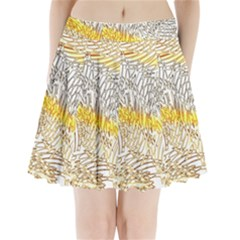 Abstract Composition Pattern Pleated Mini Skirt
