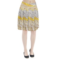 Abstract Composition Pattern Pleated Skirt