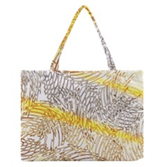 Abstract Composition Pattern Medium Zipper Tote Bag