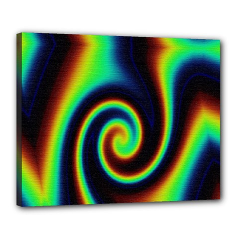 Background Colorful Vortex In Structure Canvas 20  X 16
