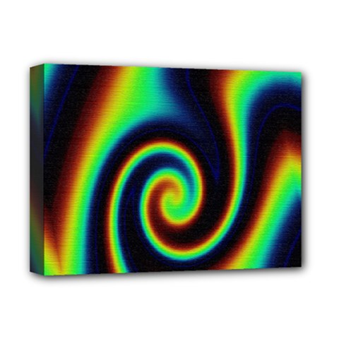 Background Colorful Vortex In Structure Deluxe Canvas 16  X 12