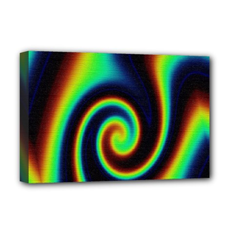Background Colorful Vortex In Structure Deluxe Canvas 18  x 12