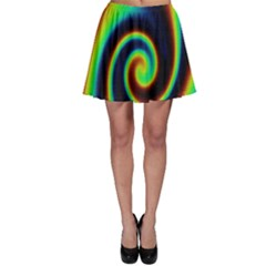 Background Colorful Vortex In Structure Skater Skirt