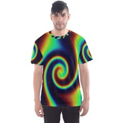 Background Colorful Vortex In Structure Men s Sport Mesh Tee