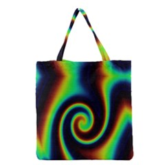 Background Colorful Vortex In Structure Grocery Tote Bag