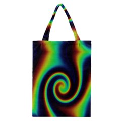 Background Colorful Vortex In Structure Classic Tote Bag