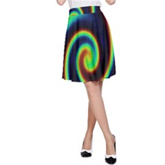 Background Colorful Vortex In Structure A-Line Skirt